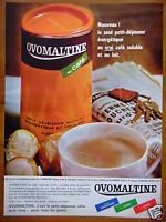 PUBLICITÉ 1964 OVOMALTINE AU CAFÉ ARÔME CHOCOLAT - ADVERTISING