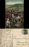 Ansichtskarte Reutlingen Straßenpartie und Marienkirche 1912