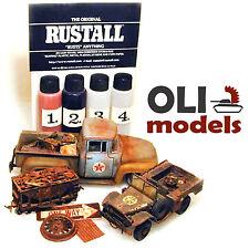 "Original RUSTALL 4x2oz. Bottles Weathering Set ""RUSTS"" Anything - RUSTALL 1234"