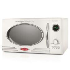 Nostalgia 0.9 cu. ft. Retro Countertop Small Microwave in White