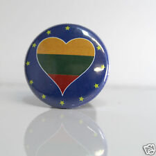 2 Badges Europe [25mm] PIN BACK BUTTON Lietuva