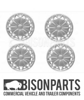 """+FITS TRANSIT MK8 2014 ONNWARDS 16"""" WHEEL TRIMS SILVER WITHOUT BADGE TRA609 x4"""