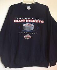Rare Columbus Blue Jackets NHL 2000-2001 Inaugural Season Large Sweatshirt
