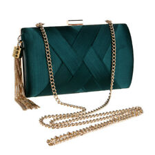 Women Evening Bags Metal Tassel Clutch Bag With Chain Shoulder Handbags 2019