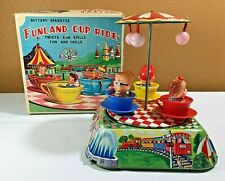VINTAGE 1960's Japanese Kanto Toys 'Funland Cup Ride' With Box - Not Working