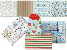 Assorted Designer Christmas Gift Wrap ~ 4 Flat Sheets ~ Free Shipping ~