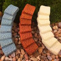 Miniatura de resina mini puente de la escalera de hadas Jardín Terrario de decor
