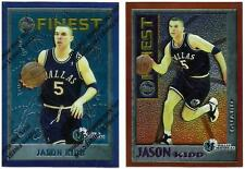 1995-96 TOPPS FINEST JASON KIDD LOT - REFRACTOR (5) & MYSTERY ORANGE BORDER (M9)