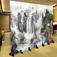 Room Divider Privacy Screen Partition Wall Folding Screen Separator Canvas 6P