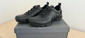 Sneaker Ecco Biom Aex M schwarz Größe 43 Leder Neu