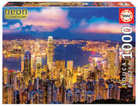 Educa Hong Kong Neon Fluorescent 1000 pc Jigsaw Puzzle (pl)