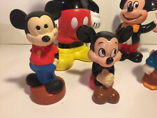 Lot Of 5 Disney Plastic Figures~ 4 Mickey Mouse 1 Donald Duck~
