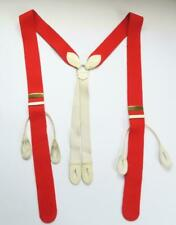 VINTAGE ALBERT THURSTON RED BOXCLOTH BRACES SUSPENDERS