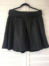 Portmans Leather Ra Ra Skirt Size 14