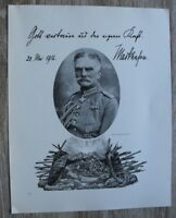 Blatt 1917 Generalfeldmarschall August v Mackensen Monarchie Adel 22x27cm 1.WK