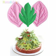 Maple Leaf Clip Silicone Fondant Mold Cake Decor Chocolate Candy Baking Diy Tool