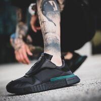 Adidas Futurepacer Hommes Noir Vert Chaussures Course Baskets UK 12 Ue 47 1/3