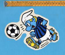 ADESIVO/STICKER- PUFFO (3) CON MAGLIA INTER - vintage anni 80-GRANDE cm.15X19
