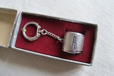 Hallmarked sterling silver coin support & porte-clés en boîte d'origine - 1963