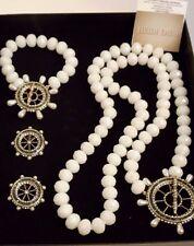 "Heidi Daus ""Full Speed Ahead"" Necklace-Bracelet and Earrings Pierced"