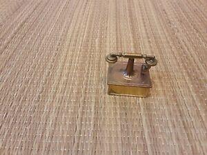 Vintage Miniature Brass Old Style Telephone