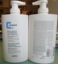 Ceramol 311 Base lavante Soap Face-Body 400ml Leather atopic sensibie