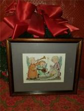 Completed Framed Cross Stitch Picture Christmas Children Angels Nativity Jesus