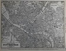 Vintage 1940 World War WWII Atlas City Map Pittsburgh PA Penn Pennsylvania L@@K!