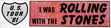 Rolling Stones  bumper sticker   Vintage 1980's Style  Travel Decal