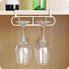Stemware Wine Glass Rack Holder Hanging Hanger Under Cabinet Shelf Kitchen LH