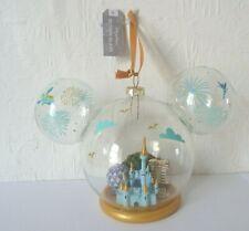 Disney Parks Cinderella Blown Glass Christmas Tree Ornament BNWT