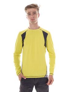 O`Neill Running Shirt Funktionoberteil Active Logo Yellow Hyperdry Crew Neck