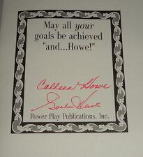Gordie Howe & Colleen Howe Signed 1995 And Howe Hardback Book