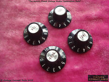 Vintage 1968 Gibson Witchhat Knobs Witch Hat Black SILVER inserts 1967 ES335 335