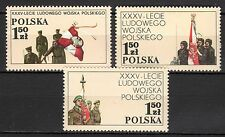 Poland - 1978 35 years army - Mi. 2578-80 MNH