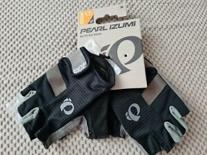 PEARL IZUMI Elite Gel Gloves Medium Black Grey road cycling bike RRP £35