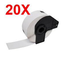 20 X Compatible DK22210 Printer Labels Roll + Frame for Brother QL560 QL570 T