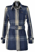 Trench Giacca Giubbotto Aquascutum London Donna Women Jennifer SB Rainwear Blu