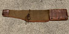 """Vtg Western Rifle Scabbard Leather and Canvas Lace Up 42"""""""