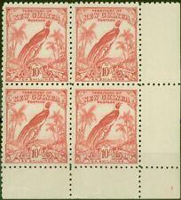 More details for new guinea 1932 10s pink sg188 v.f mnh corner block of 4