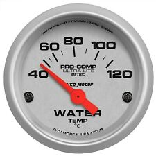 Autometer Ultra-Lite Water Temp Gauge 40-120C 52mm