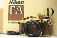 【UNUSED in Box】 Nikon FA GOLD GRAND PRIX 84 Camera + Ai-s 50mm f1.4 From JAPAN