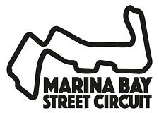 MARINA BAY RACE CIRCUIT. Car vinyl sticker F1 Singapore Grand Prix Formula One