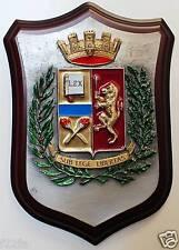 Crest ARALDICO POLIZIA di Stato in Peltro + SMALTI (16 x 23 cm) logo PS NUOVO