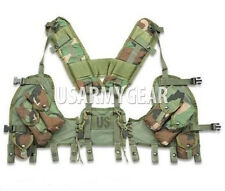New in Bag US ARMY Woodland Camo ENHANCED TACTICAL LOAD BEARING VEST LBV USGI
