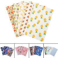 4/5Pc DIY Colourful 100% Cotton Fabric Assorted Pre-Cut Fat Quarters Bundle US