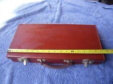 More details for vintage genuine leather regalia half case without keys