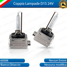 COPPIA LAMPADE XENON D1S LUCE BIANCA 6000K PER CAMION RENAULT TRUCK 24V 35W