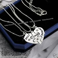 GIFTS FOR HER - Best Friends Forever Necklace Heart Xmas Sisters Daughters Women