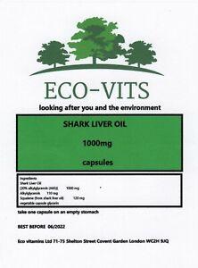 SHARK LIVER OIL 1000mg 120 caps IMMUNE SYSTEM COLDS FLU